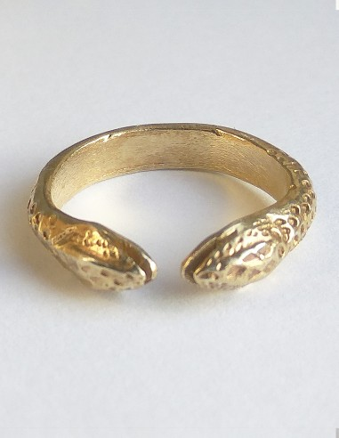 Snake ring two heads