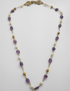Amethysts and Pearls necklace