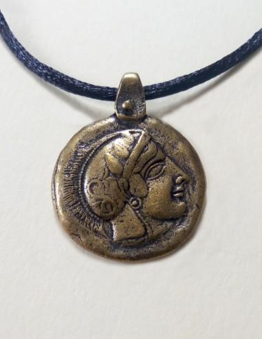 Colgante moneda mochuelo Atenea