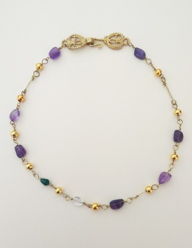 Amethysts glass necklace