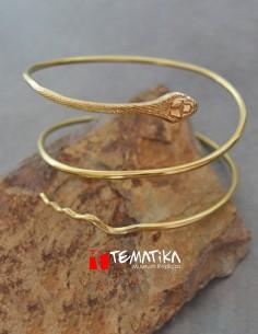 Snake amulet double bracelet